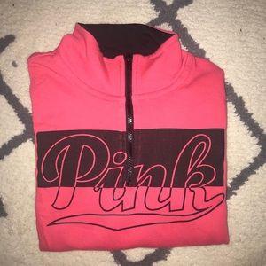Victoria Secret PINK Half-Zip Sweatshirt